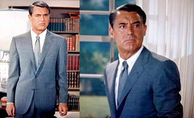 Cary Grant Iconic Grey Suit