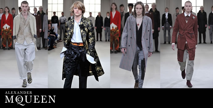 Sarah Burton First Menswear Collection at McQueen