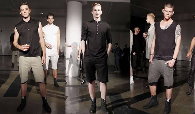 Tim Hamilton Showcasing Achromatic Clothing For SS11