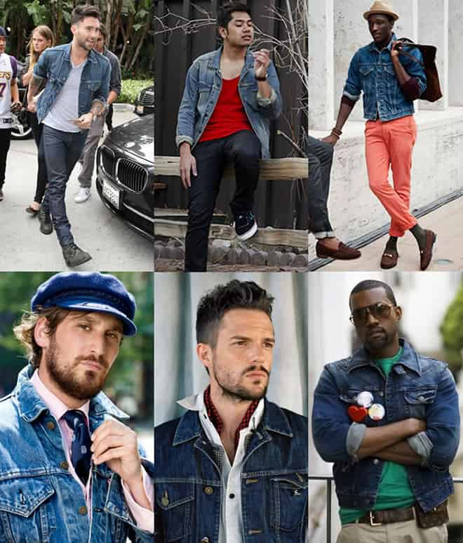 How To Wear a Denim Jacket - Men