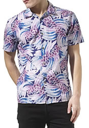 PAUL SMITH JEANS Big palm print shirt