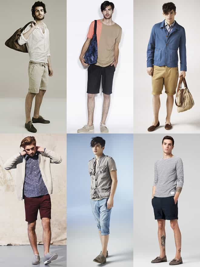 Men's Shorts & Shoes Look Book