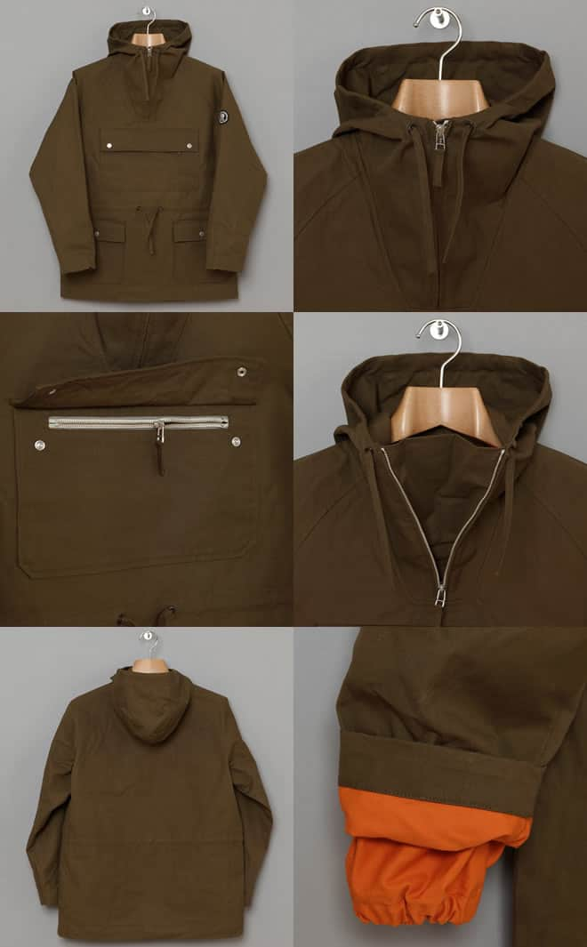Oi Polloi x Norse Projects Kaare Smock Jacket in olive