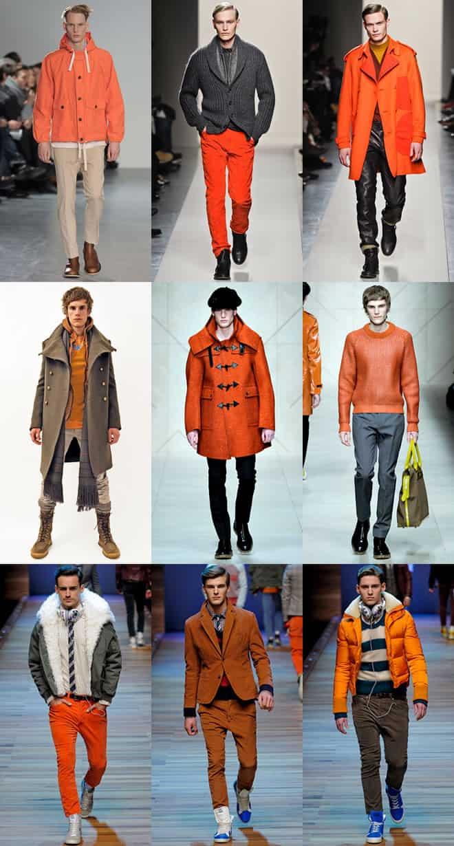 Men's Orange Clothing on Autumn/Winter 2011 Runways