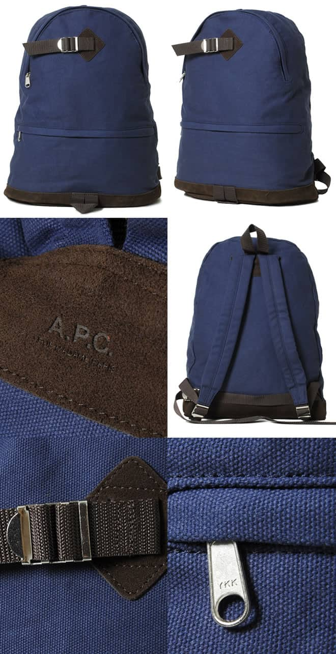 A.P.C Backpack Navy