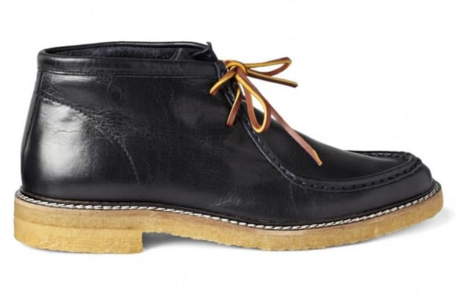 B Store Fargo Crepe-Sole Leather Boots side