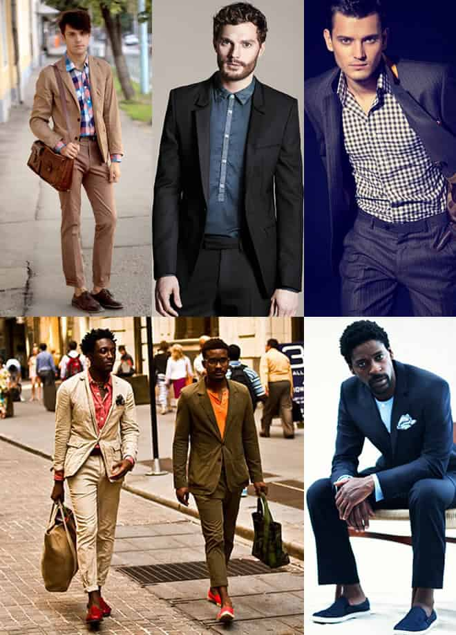 How To Dress Down a Suit - Mix in Casual Shirts