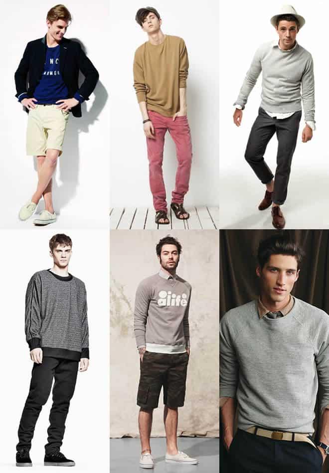 Men's Sweatshirts Look Book