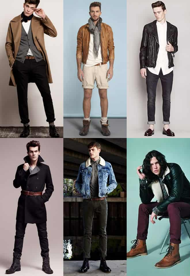 Men's Mixing Leather Colours Look Book