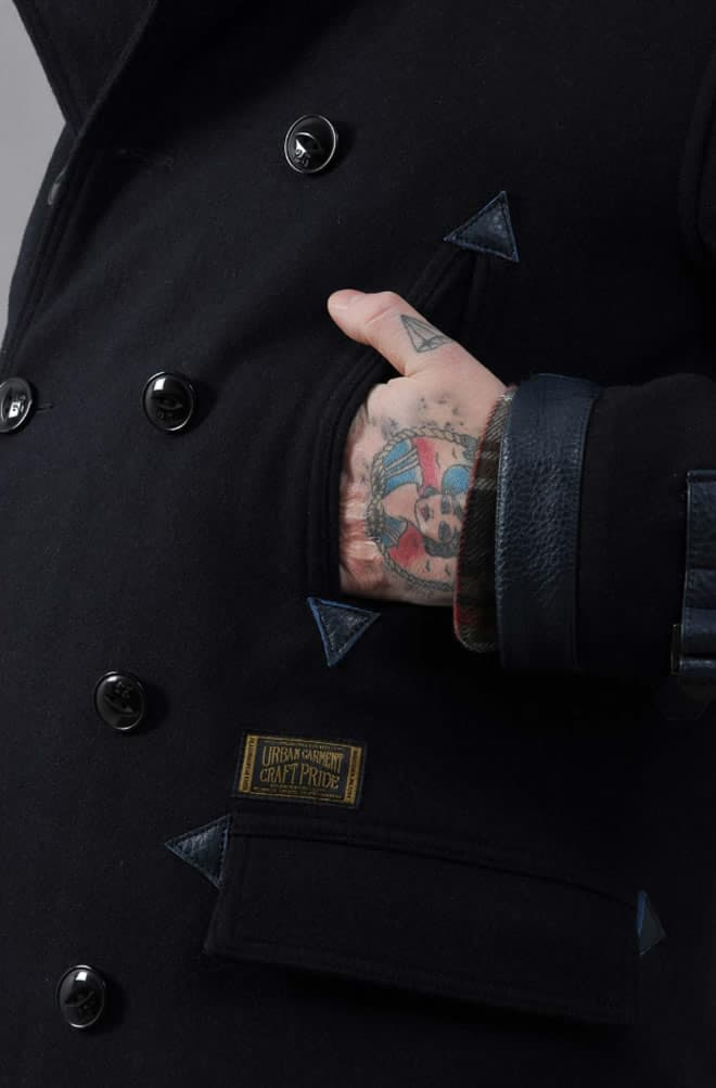 Neighborhood Peacoat Navy