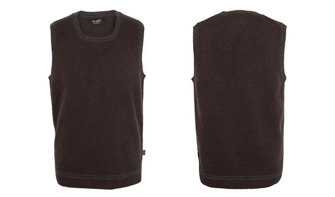 Paul Weller Brown Tank Top Knit