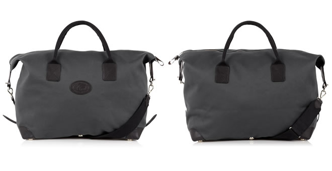 Chapman Bags Storm Grey Canvas Holdall