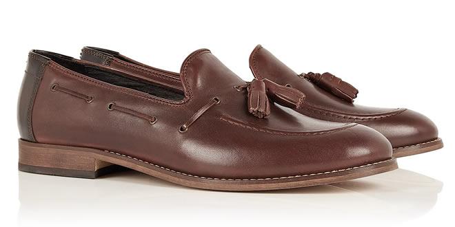 Hudson Chocolate Tassel Tyska Loafers