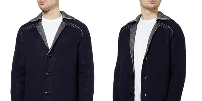 Maison Martin Margiela Open Stitch Wool-Blend Cardigan