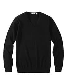 MEN Extra Fine Merino V Neck Sweater A