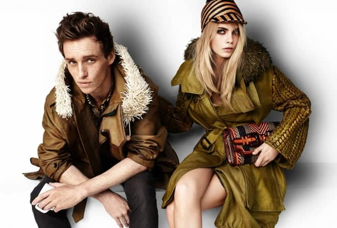Eddie Redmayne for Burberry