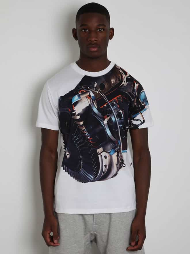 Christopher Kane Men's White Engine T-Shirt