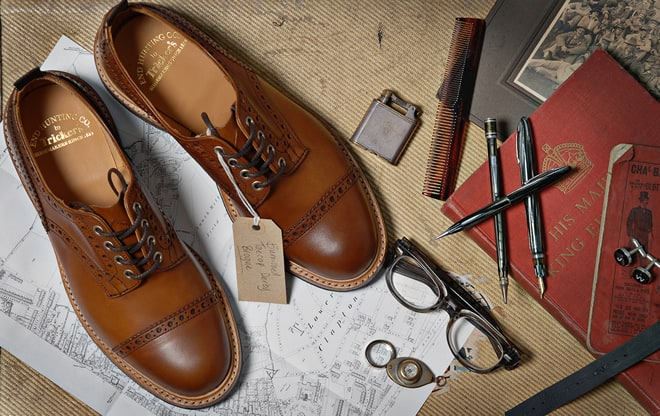 Tricker's for End Hunting Co. Toecap Derby Brogue