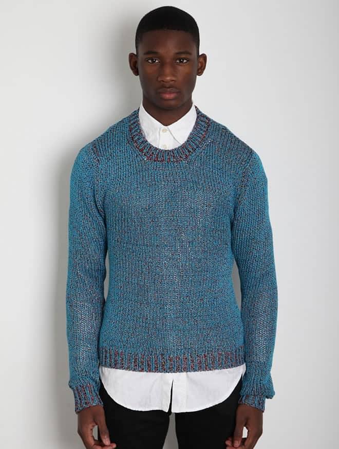 Jil Sander Men's Woven Sweater
