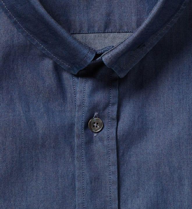 McQ Alexander McQueen Slim-Fit Safety-Pin Collar Denim Shirt