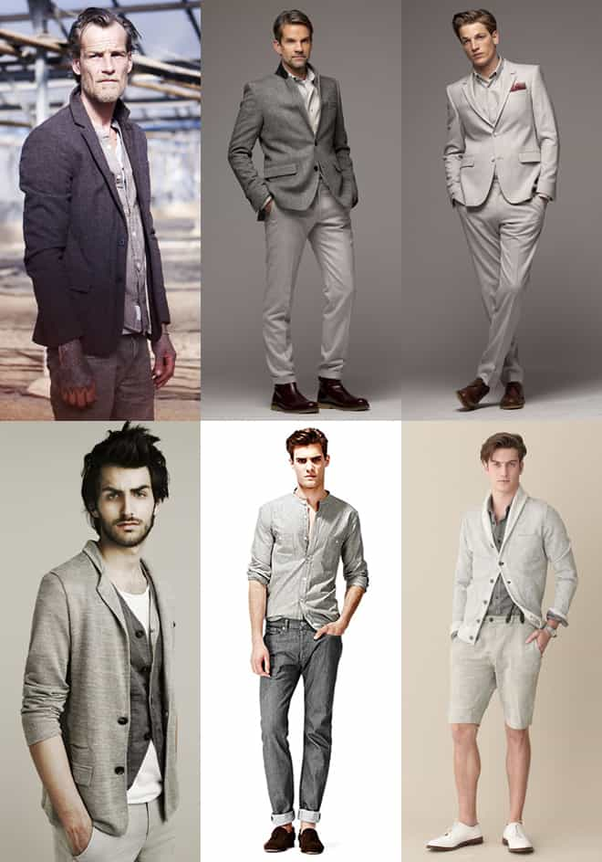 Men's All Grey Outfits Lookbook