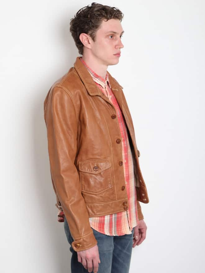 Levi's Vintage 1930 Menlo Tan Leather Jacket