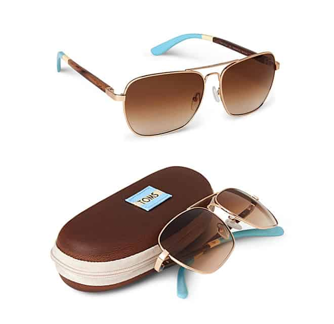 TOMS Classic 302 rectangular brown sunglasses