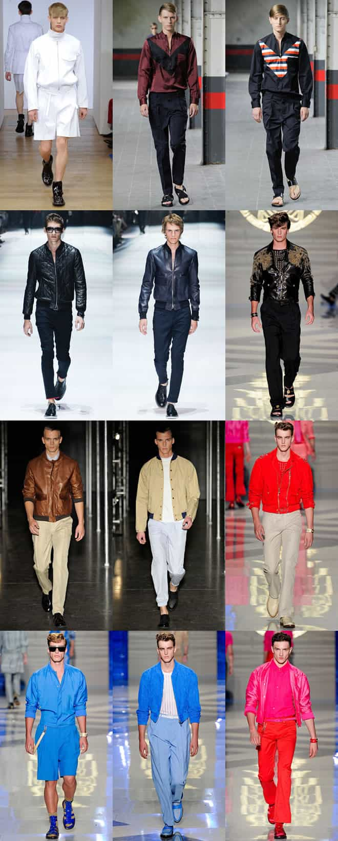 Men's Blouson Jackets on the Spring/Summer 2012 Runways