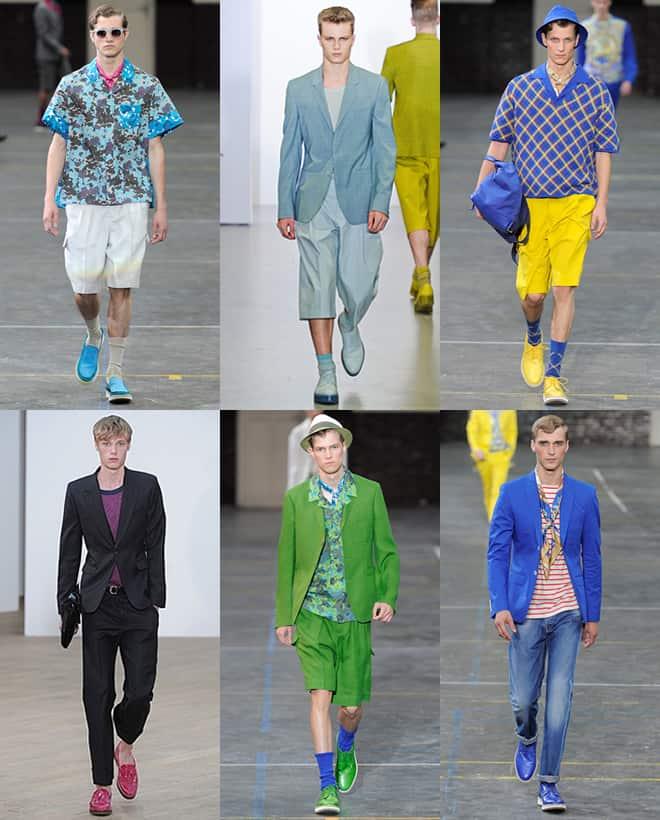 Men's Pop Coloured Shoes On The SS12 Catwalks