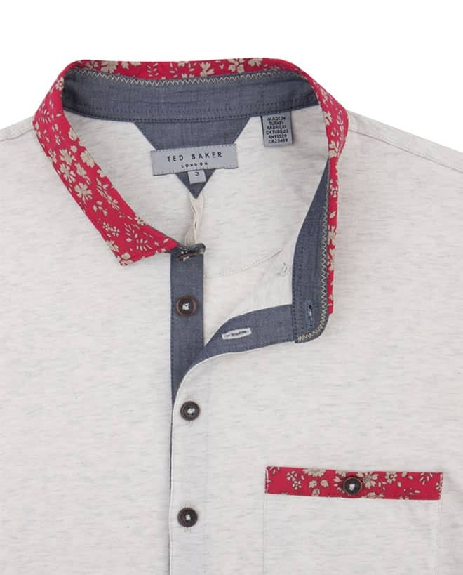 Ted Baker NEWMEAT - Woven collar polo