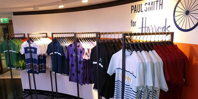Paul Smith Pop Up Cycling Space at Harrods