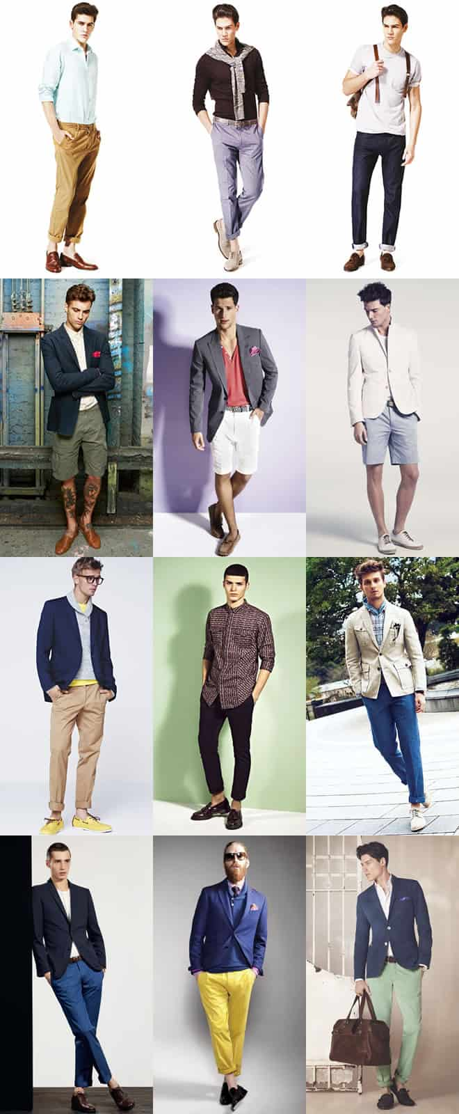 Men's Casual Sockless Lookbook