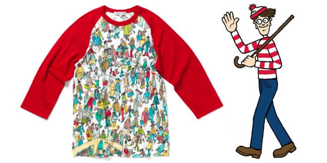 Comme Des Garcons x Where's Wally Collection