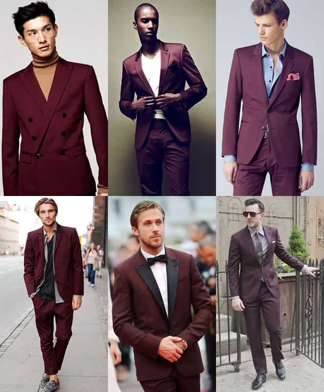 Men's Burgundy Suits