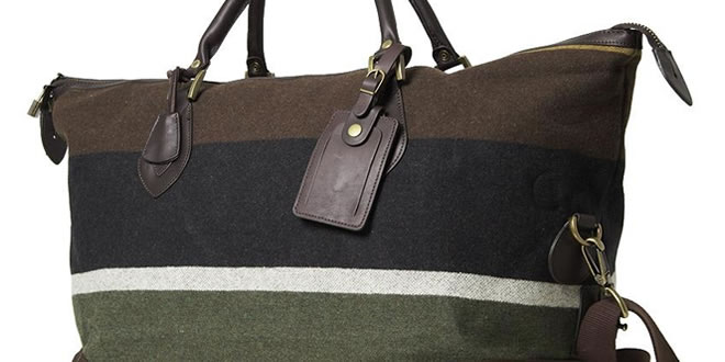 Barbour Striped Wool Explorer Bag