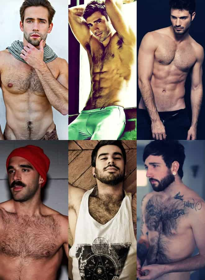 Men's Chest Hair - Varying Lengths