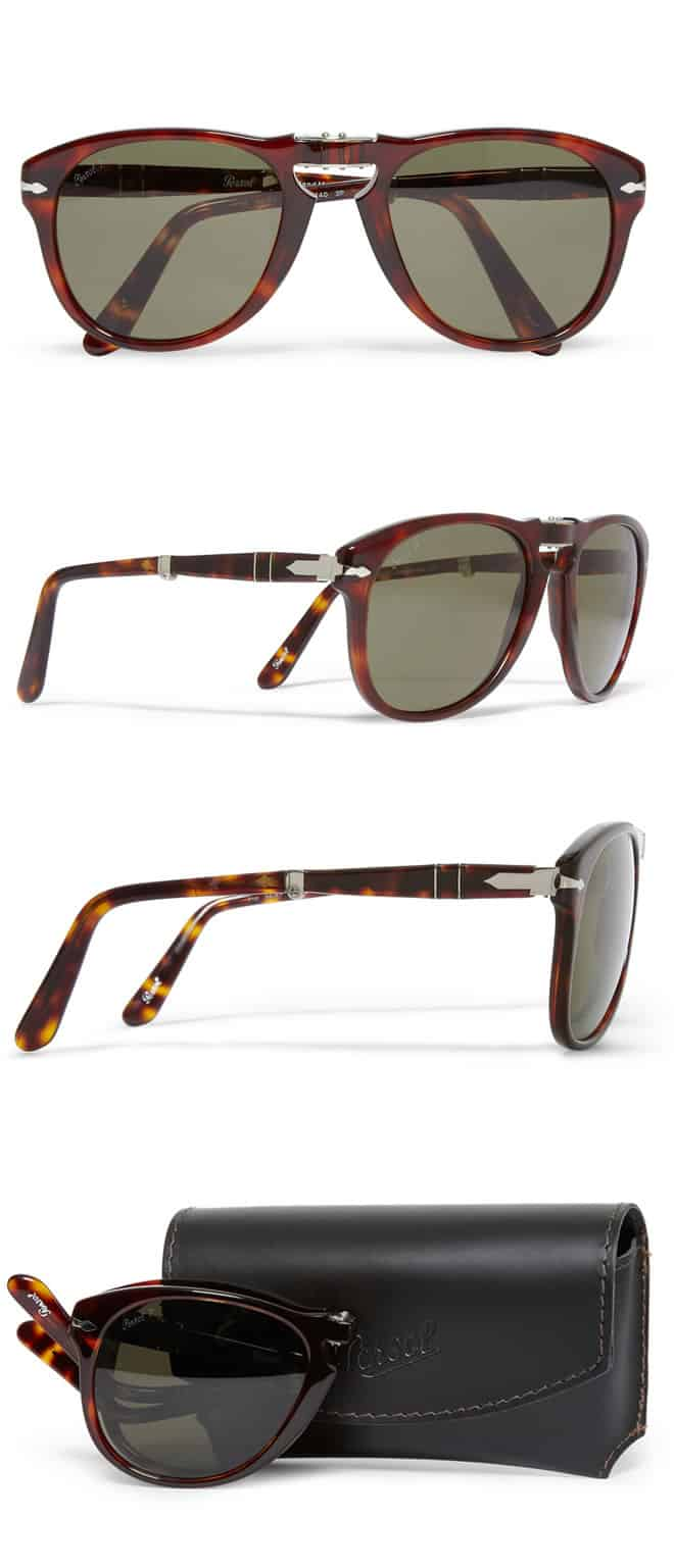 Persol Polarised Foldable 714 Acetate Sunglasses