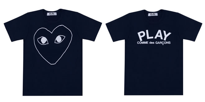 Play by Commes des Garçons Navy T-Shirt Collection