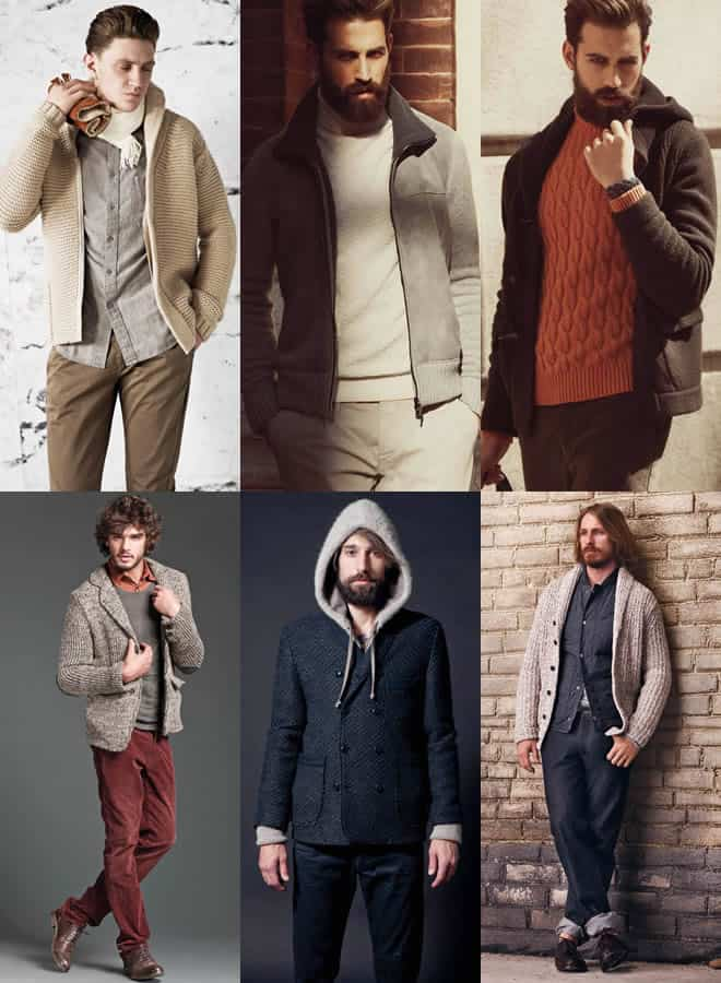 Men's Knitted Jacket Lookbook