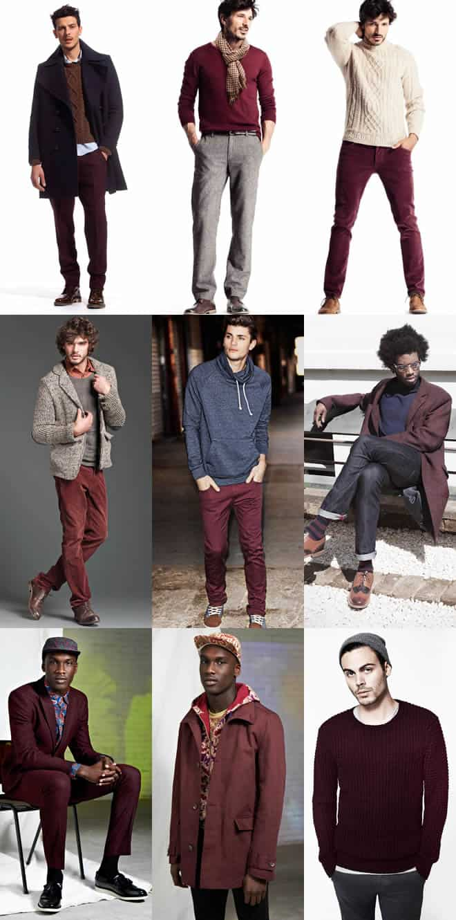 Men's Maroon Lookbook