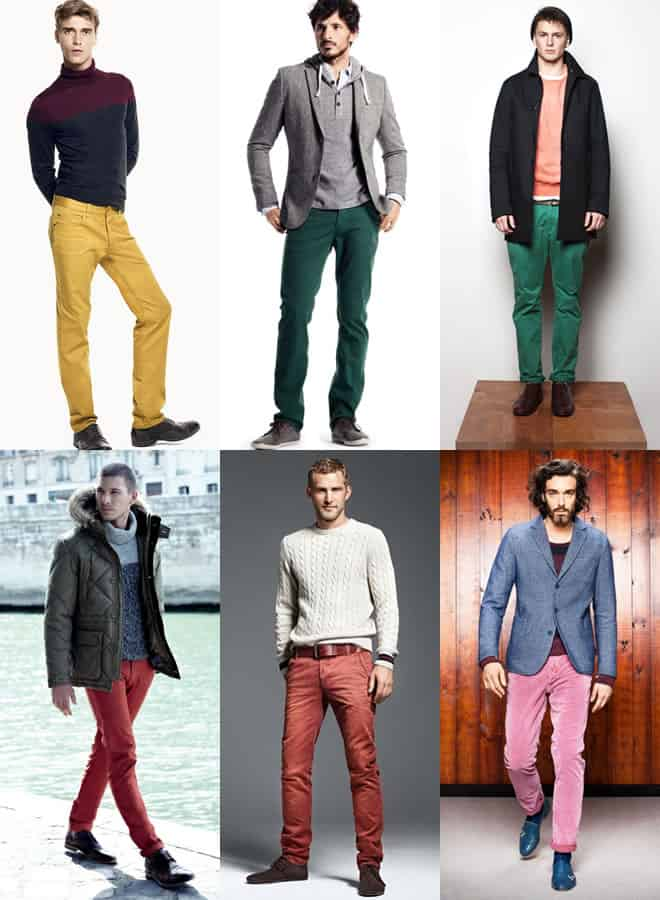 Men's Coloured Trousers Lookbook