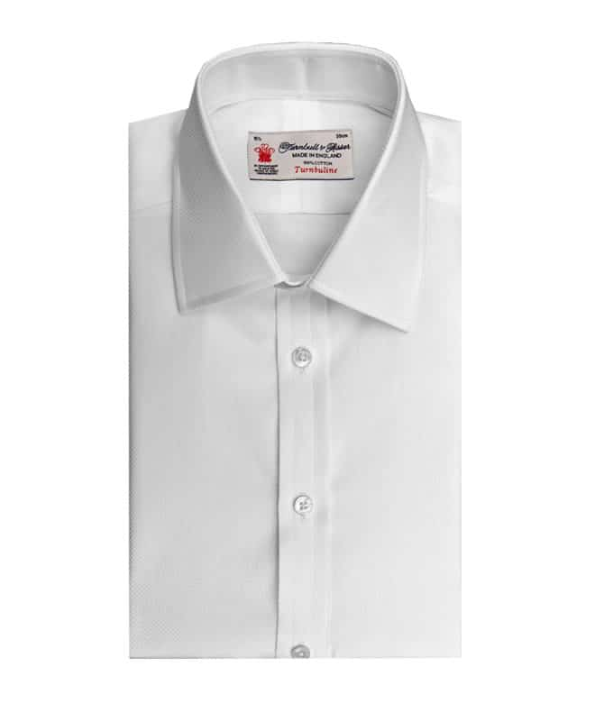 Turnbull & Asser White-on-White Mini Square Superfine Shirt