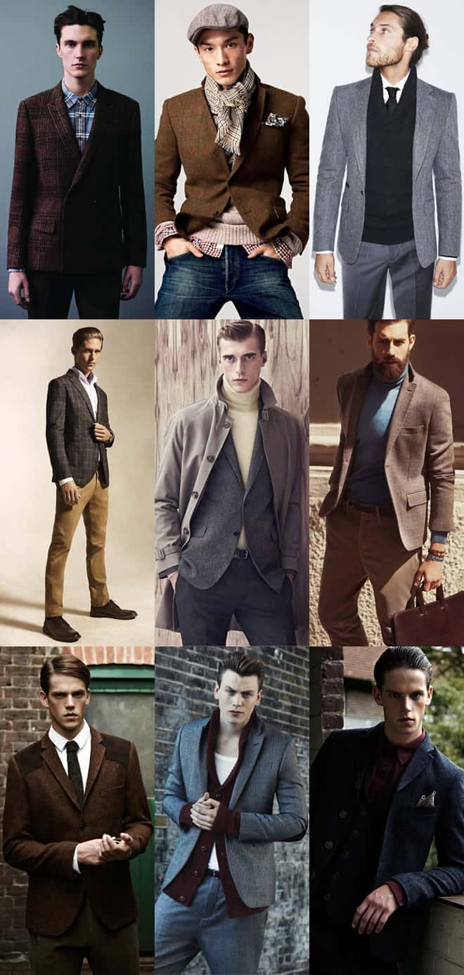 Men's Tweed Blazers Lookbook