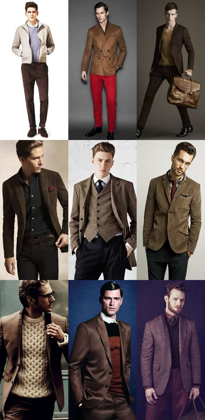 Men's Brown Tailoring Lookbook