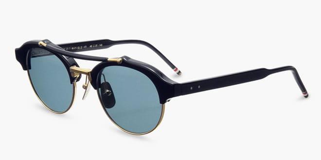 Thom Browne Gold Round Sunglasses
