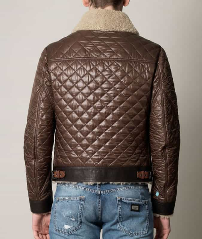 Burberry Brit Quilted Aviator Jacket