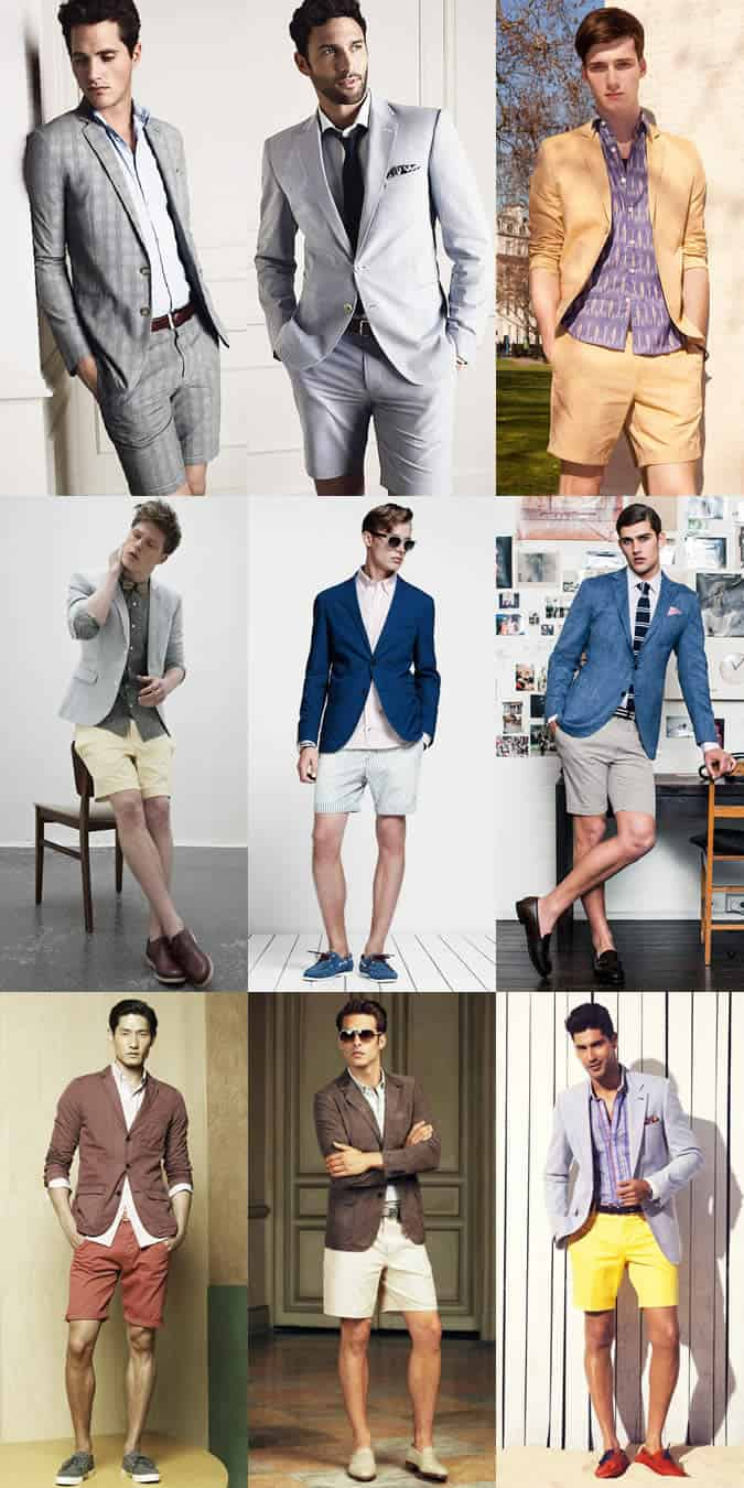 Men's Shorts Suit Lookbook