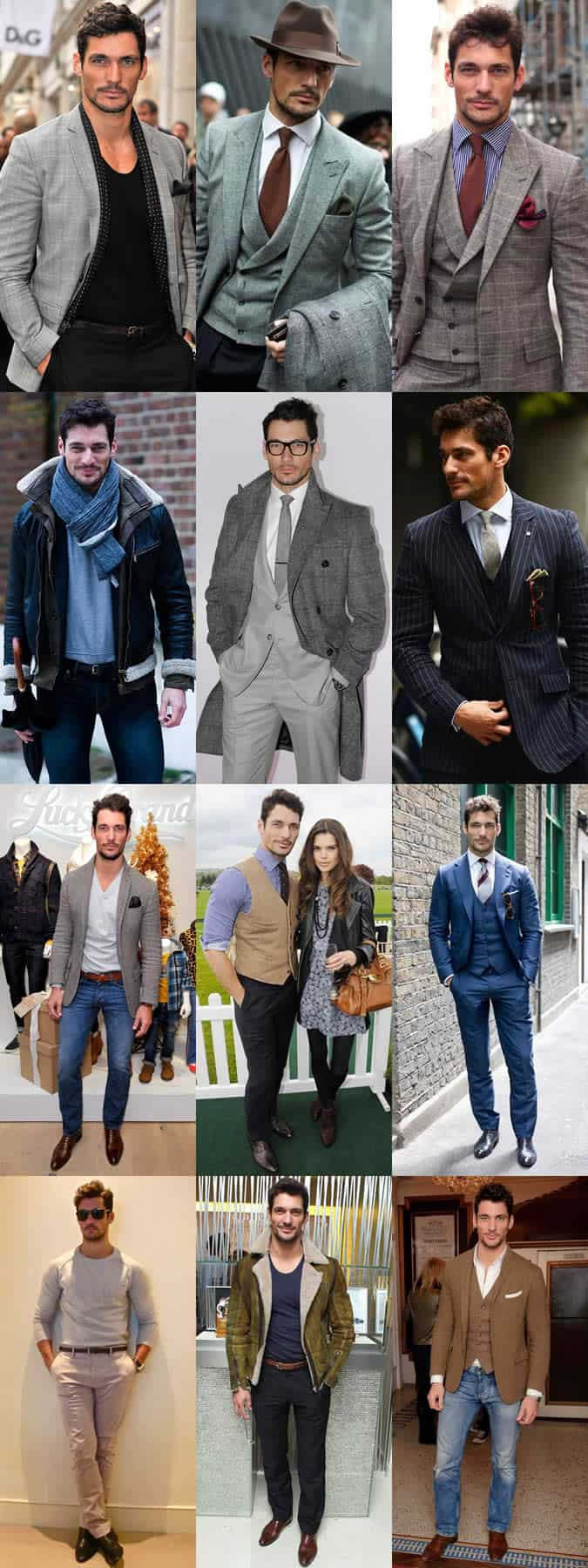 David Gandy Personal Lookbook