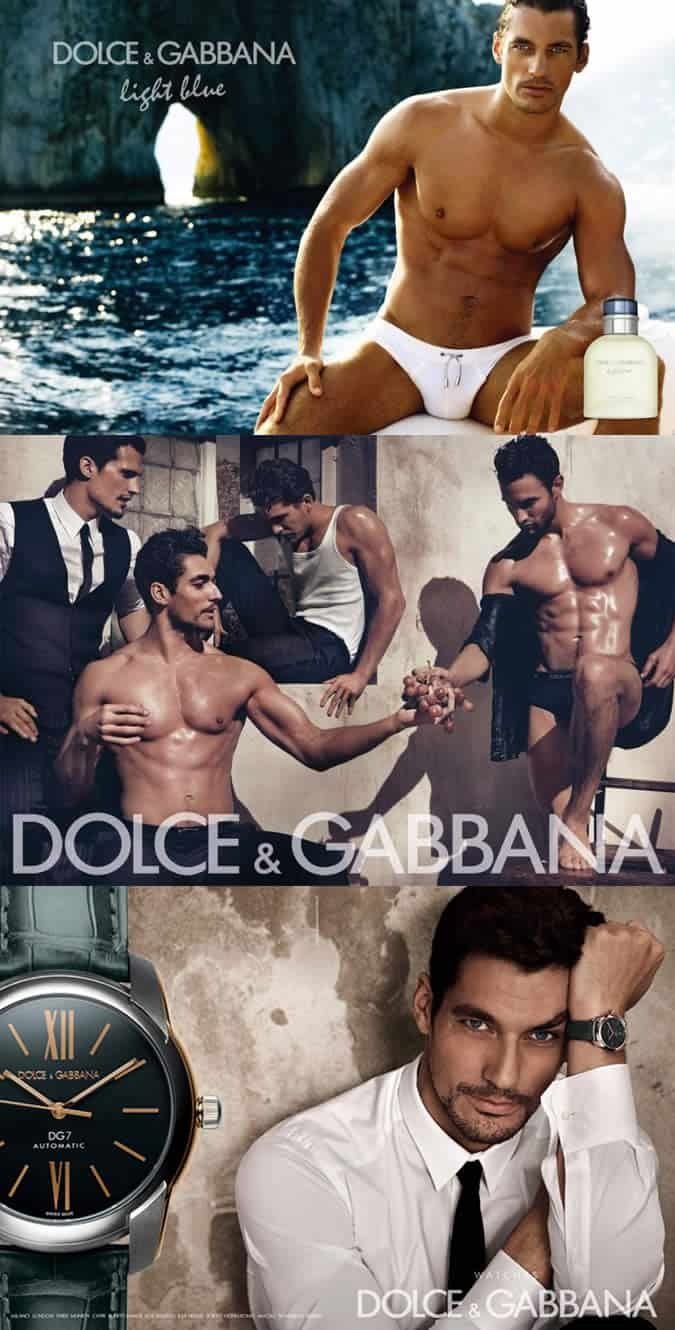 David Gandy Prominent D&G Campaigns
