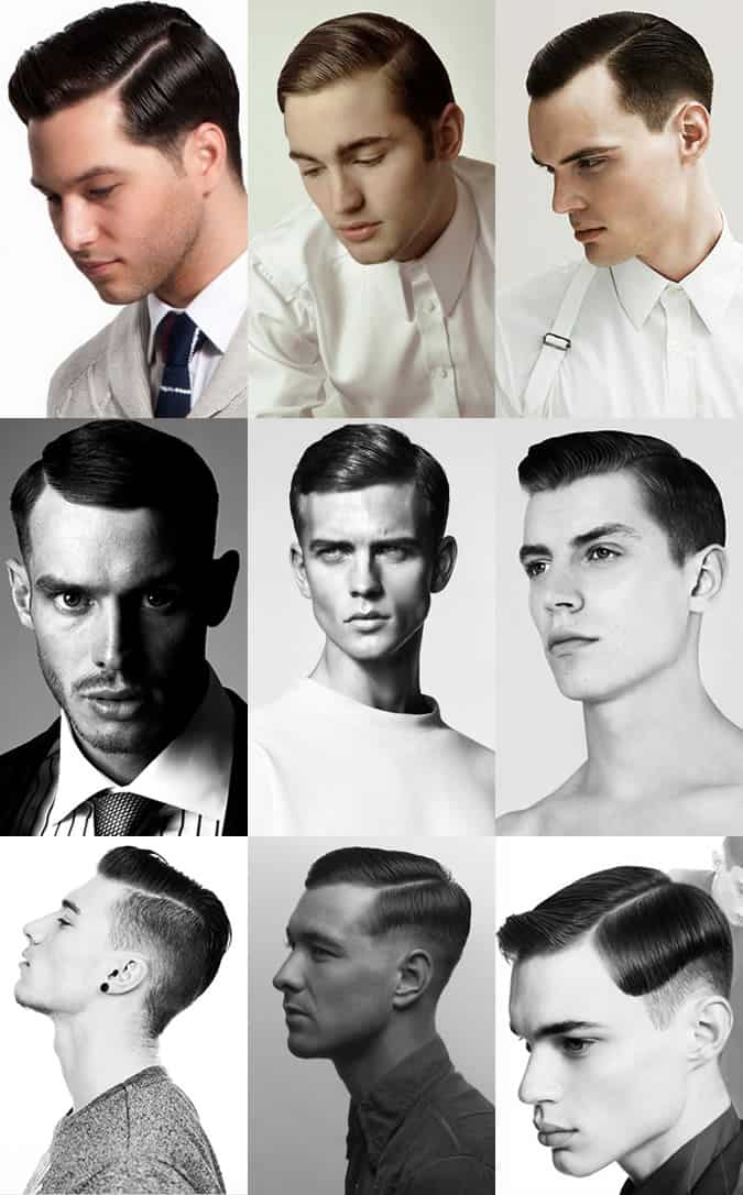 Men's Slick Side Parting Hairstyle Lookbook
